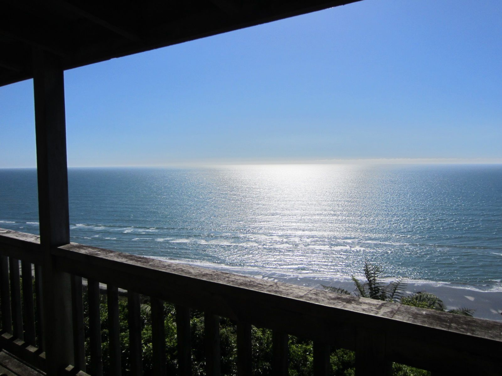 View of the Tasman Sea from veranda